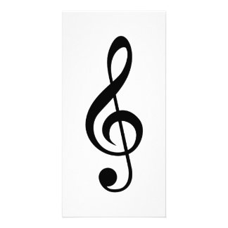 Treble Clef G-Clef Musical Symbol Personalized Photo Card