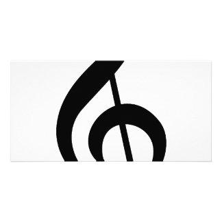 Treble Clef G-Clef Musical Symbol Customized Photo Card