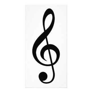 Treble Clef G-Clef Musical Symbol Custom Photo Card