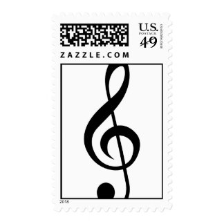 Treble Clef G-Clef Musical Symbol Postage Stamps