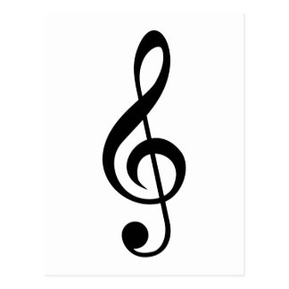Treble Clef G-Clef Musical Symbol Postcard
