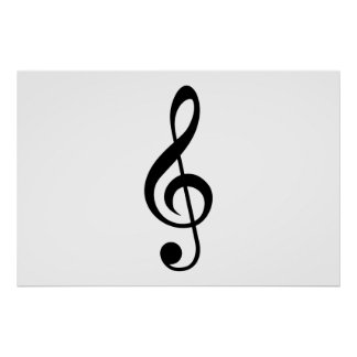 Treble Clef G-Clef Musical Symbol Poster
