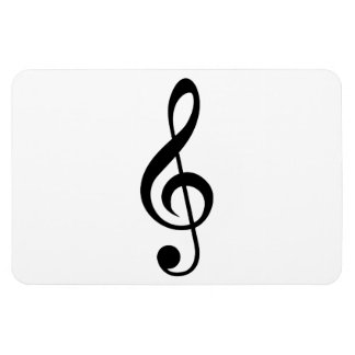 Treble Clef G-Clef Musical Symbol Rectangle Magnets