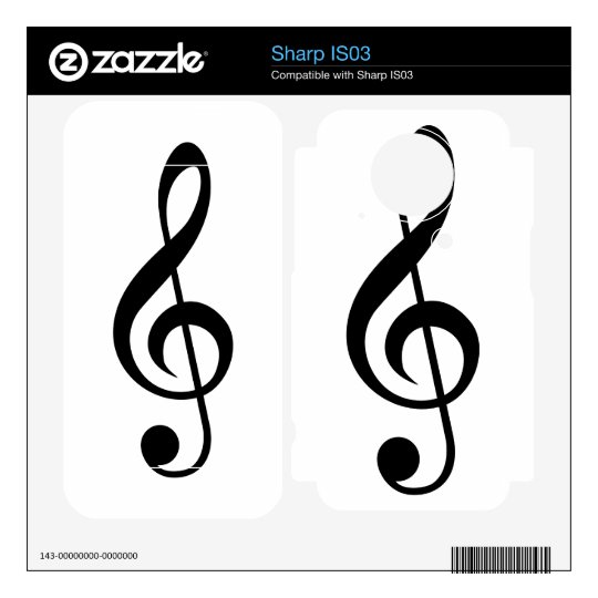 Treble Clef G-Clef Musical Symbol Sharp IS03 Decals