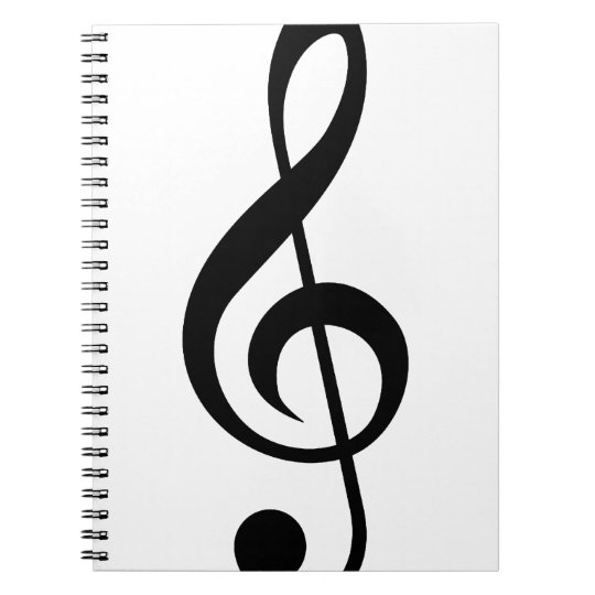 Treble Clef G-Clef Musical Symbol Spiral Notebook