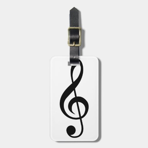 Treble Clef G-Clef Musical Symbol Tag For Luggage
