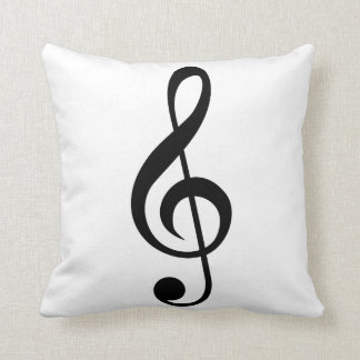 Treble Clef G-Clef Musical Symbol Throw Pillow