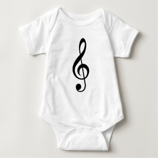 Treble Clef G-Clef Musical Symbol Infant Creeper