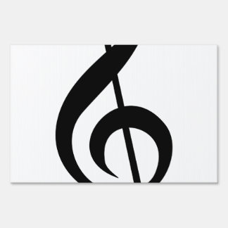 Treble Clef G-Clef Musical Symbol Yard Sign