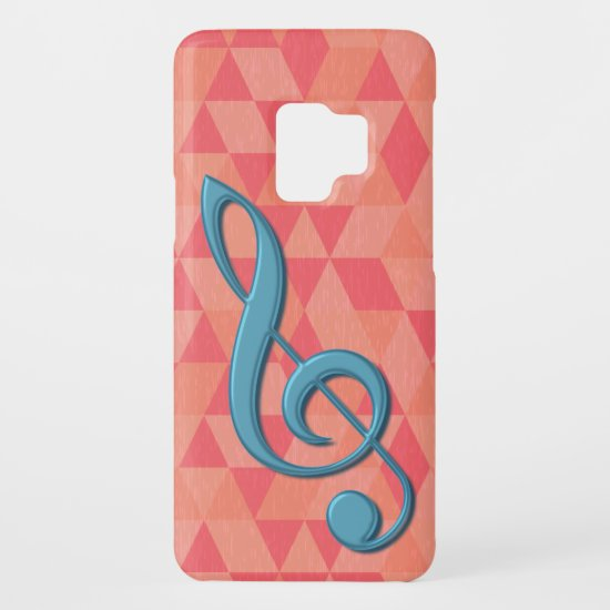 Treble Clef Geometric Triangles Teal and Pinks Case-Mate Samsung Galaxy S9 Case