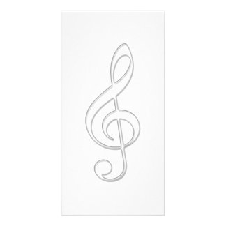 Treble clef glass illustration card