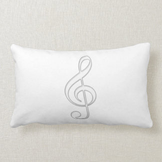 Treble clef glass illustration pillow