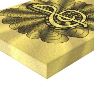 Treble Clef Gold Metallic Customizable Canvas Print