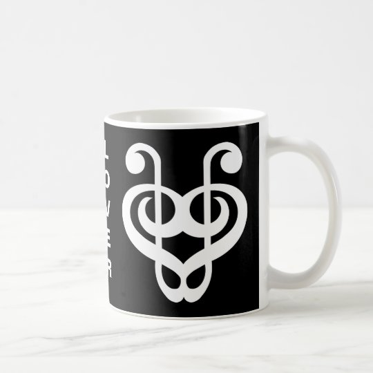 Treble Clef Heart Music Lover Mug