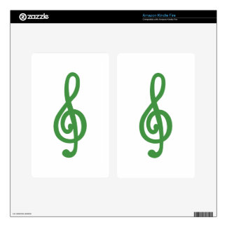 Treble Clef Kindle Fire Decal