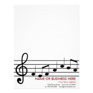 treble clef letterhead