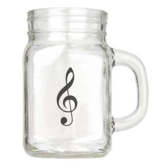 Treble Clef Mason Drinking Jar