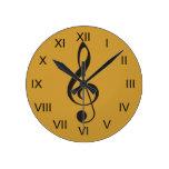 Treble Clef Music Clock Gift