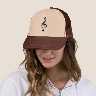 Treble Clef Music Instrument Band Orchestra Trucker Hat