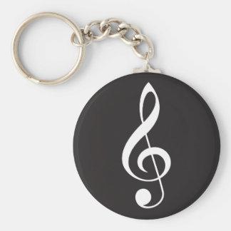 Treble Clef Music Keychain Gift