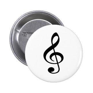 Treble Clef Music Note Button