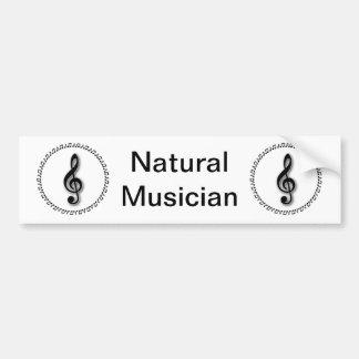Treble Clef Music Note Design Bumper Sticker