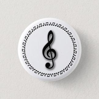 Treble Clef Music Note Design Button