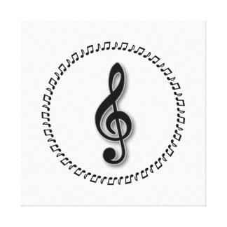 Treble Clef Music Note Design Canvas Print