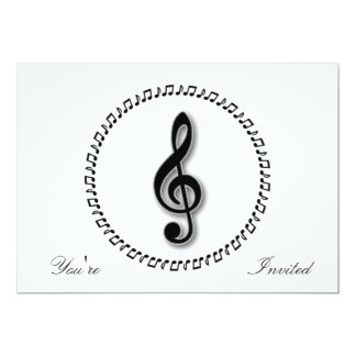 Treble Clef Music Note Design Card