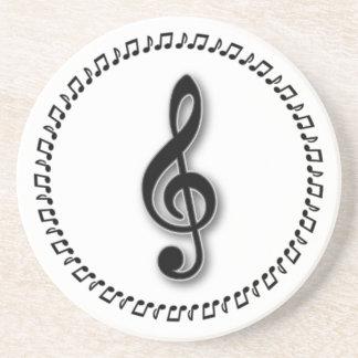 Treble Clef Music Note Design Coaster