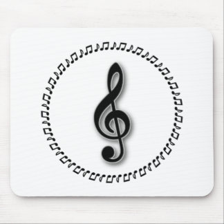 Treble Clef Music Note Design Mouse Pad