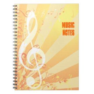 Treble Clef Music Notebook notebook