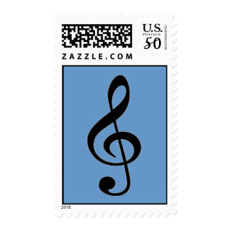 Treble Clef Music Postage Stamp