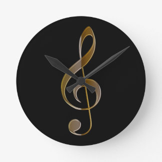 Treble Clef Music-themed Wall Clock