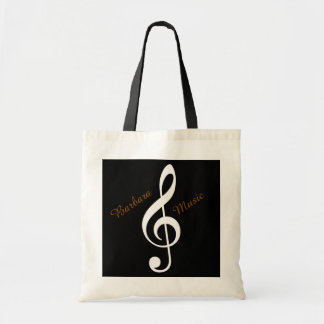 treble clef music tote bag to add name