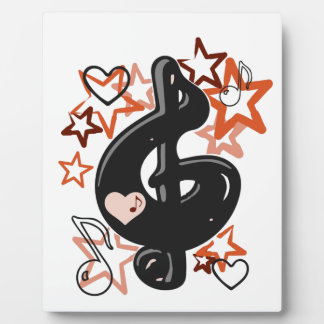 Treble clef music with stars plaque