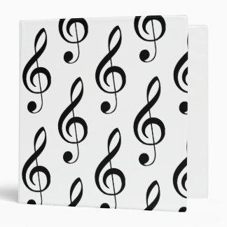Treble Clef Musical Binder