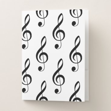 USA Themed Treble Clef Musical Folder