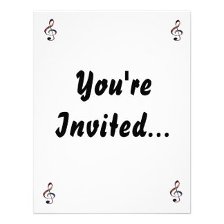 Treble Clef nebula 1 Personalized Invitations