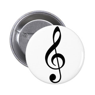 Treble Clef Pinback Button