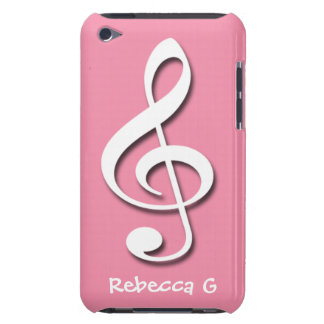 Treble Clef Pink personalized iPod Touch 4G case iPod Touch Case