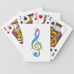 Treble clef playing cards