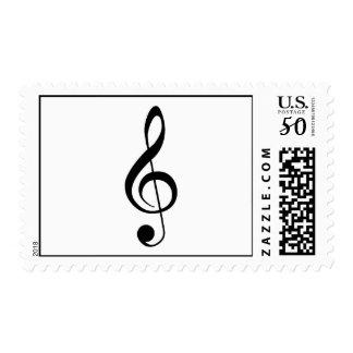 Treble Clef Postage Stamp