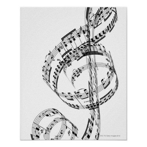 treble clef poster