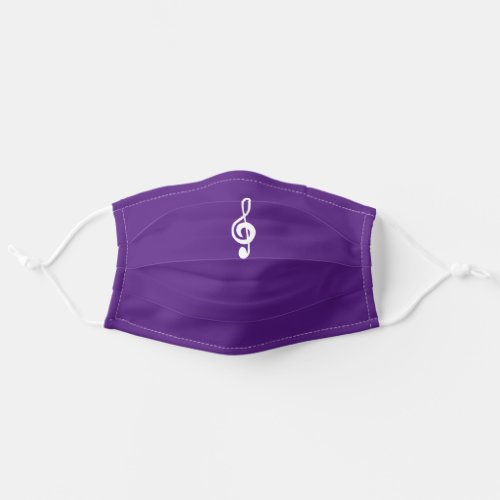 Treble Clef Purple Musical Symbol Cloth Face Mask