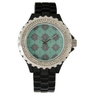Treble Clef Quatrefoil Pattern Wristwatch