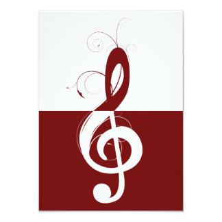Treble Clef Recital Personalized Invitation