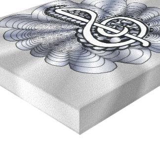 Treble Clef Silver Customizable Canvas Print