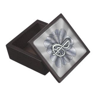 Treble Clef Silver Customizable Jewelry Box