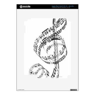 Treble Clef iPad 3 Decals